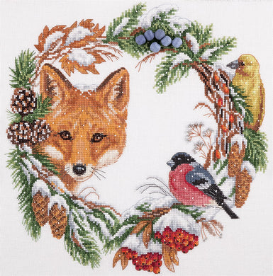 Winter Wreath Cross Stitch Kit
