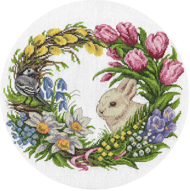 Spring Wreath Cross Stitch Kit