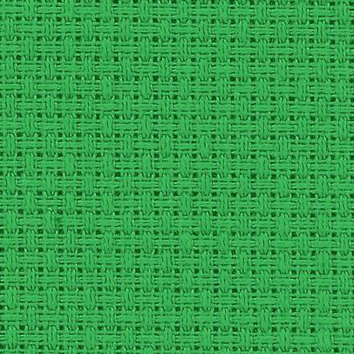 Christmas Green ~ 14 Count Zweigart Aida ~ Fat Quarter