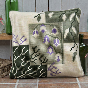Mosaic Harebells Cross Stitch Cushion Front Kit