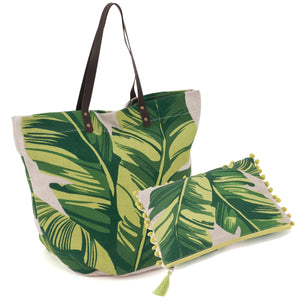 Matching Set ~ Craft Bag and Project Pouch ~ Tropical