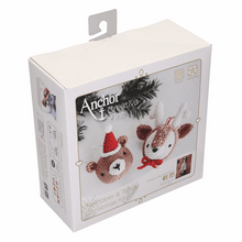 Load image into Gallery viewer, Amigurumi Christmas Reindeer and Teddy Crochet Kit