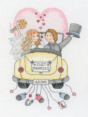 Just Married Cross Stitch Kit