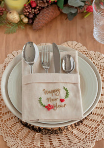 Christmas Embroidered Napkin ~ Downloadable PDF
