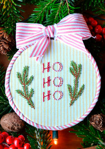 Ho Ho Ho Ornament ~ Downloadable PDF