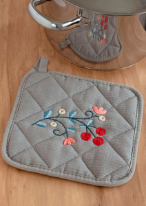 Embroidered Pot Holder ~ Downloadable PDF