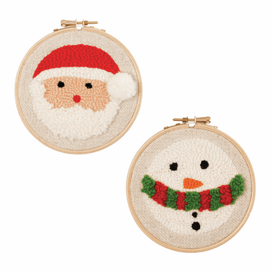 Santa and Snowman Punch Needle Kit