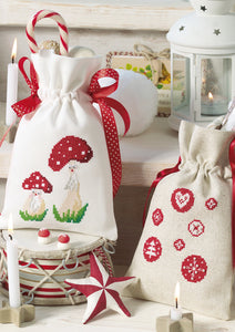 "Toadstool Pair and ""Circles"" Gift Bags ~ Downloadable PDF"