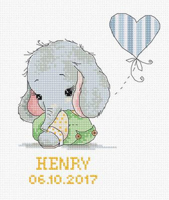 New Baby Elephant Cross Stitch Kit