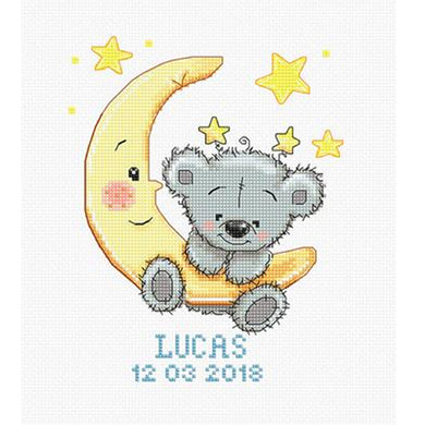 Lucas Teddy Bear Sampler Cross Stitch Kit