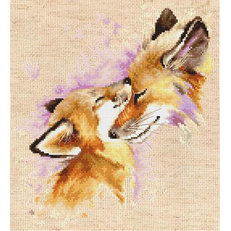 Foxes (Mothers Love) Cross Stitch Kit