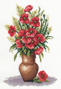 Poppy Bunch Cross Stitch Kit