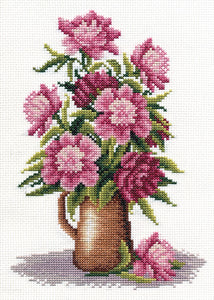 Peony Bunch Cross Stitch Kit