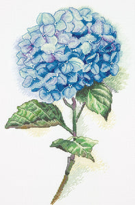 Blue Hydrangea Cross Stitch Kit