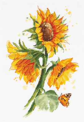 Bright Sunflowers Cross Stitch Kit