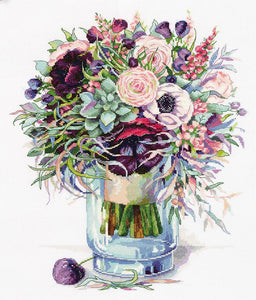 Bouquet with Anemones Cross Stitch Kit