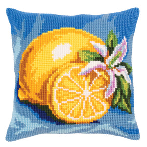 Mature Lemon Cross Stitch Cushion Front Kit