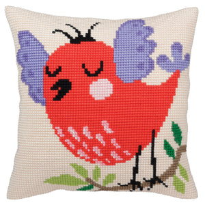 Spring Song Cross Stitch Cushion Front Kit