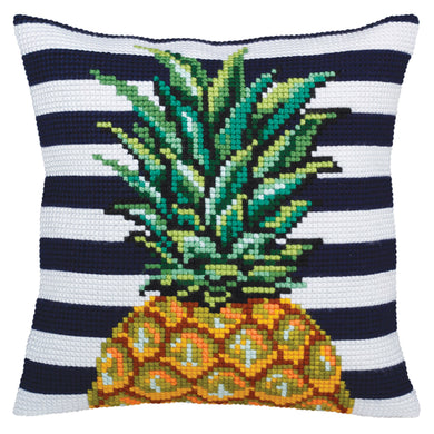Pineapple Cross Stitch Cushion Front Kit