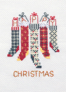Christmas Stockings - Christmas Card Cross Stitch Kit