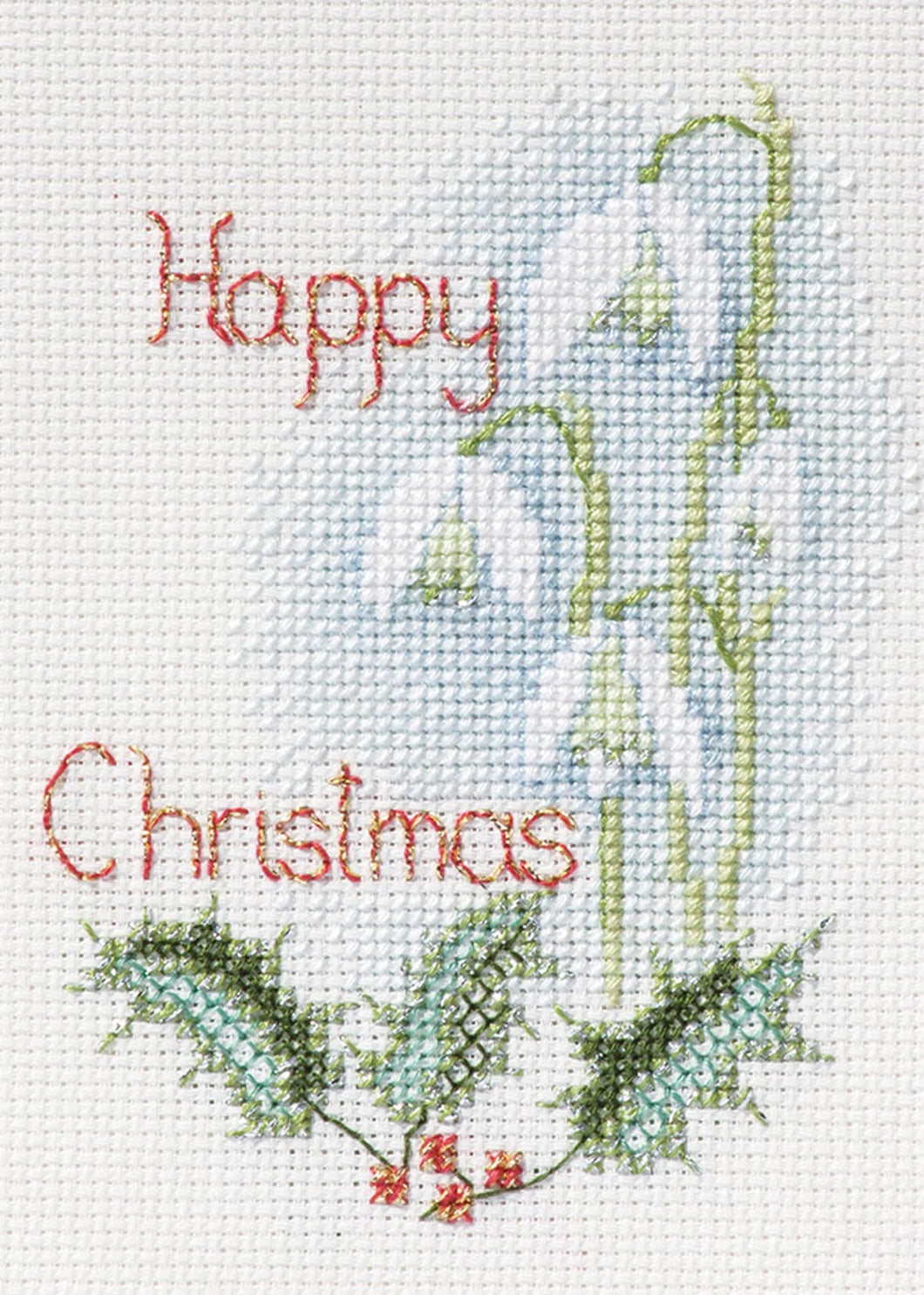 Snowdrops - Christmas Card Cross Stitch Kit