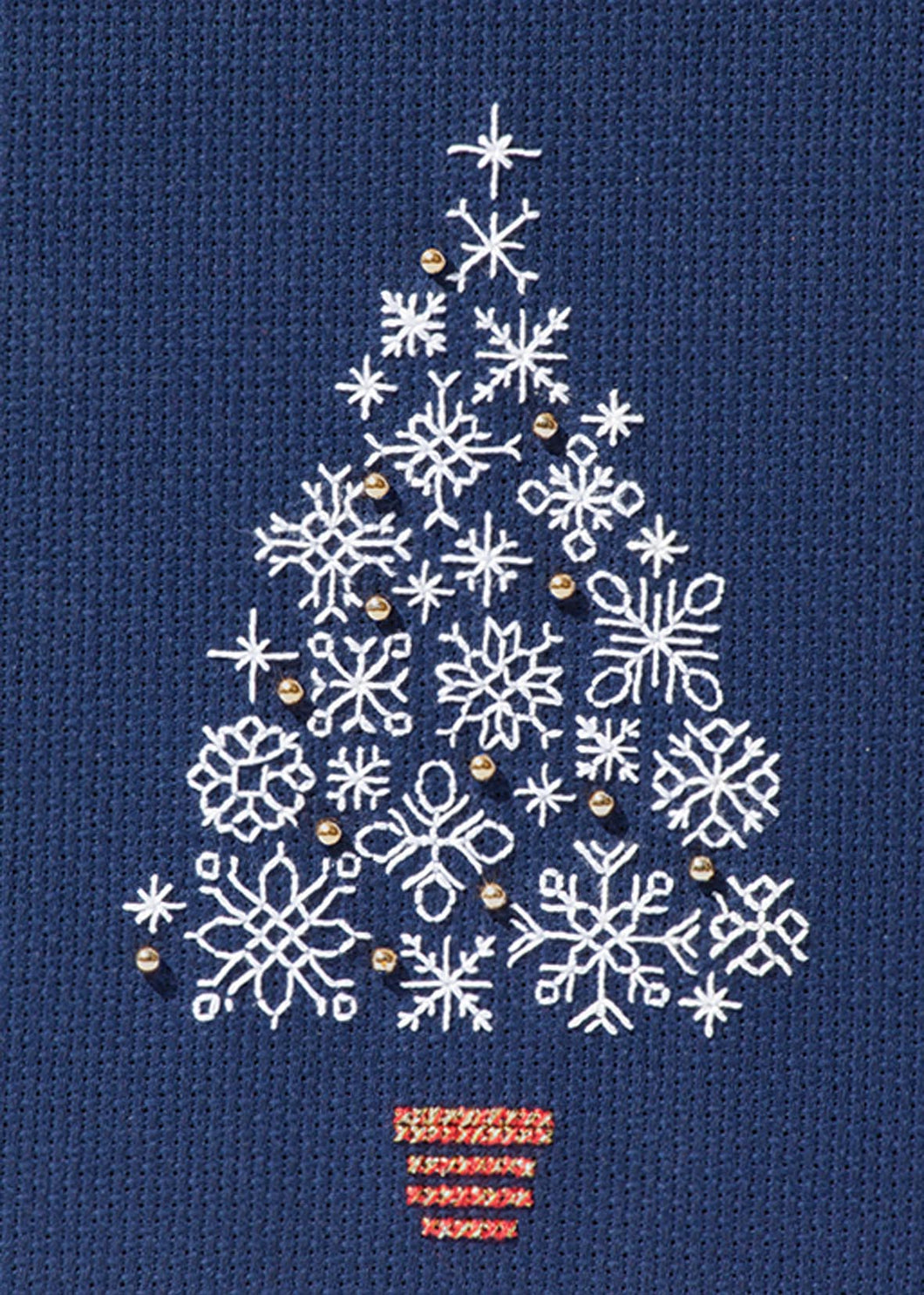 Snowflake Tree - Christmas Card Cross Stitch Kit