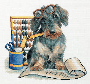 Accountant Pup Cross Stitch Kit