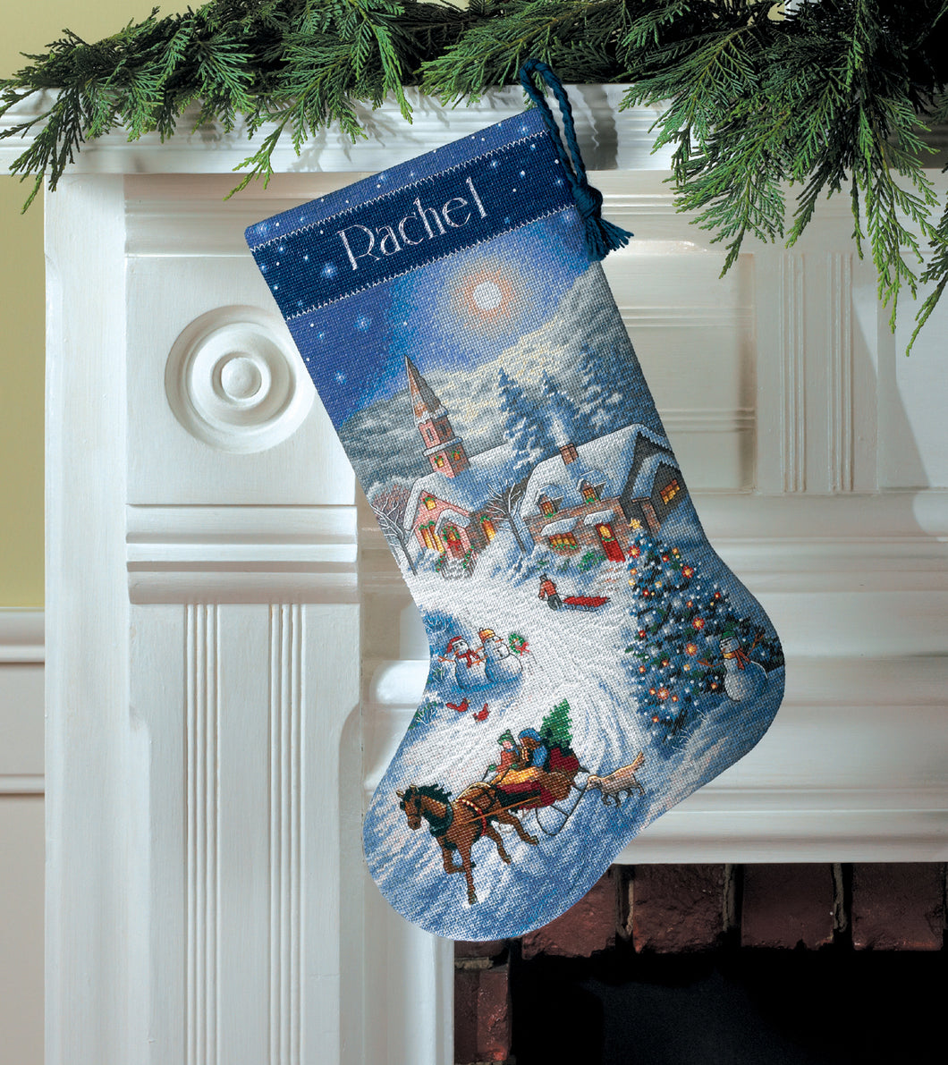 Dusk Sleigh Ride - Stocking Cross Stitch Kit