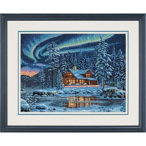 Aurora Cabin Cross Stitch Kit