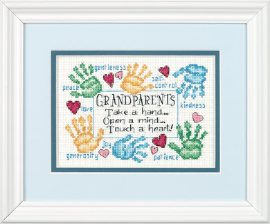 Grandparents Touch a Heart Cross Stitch Kit