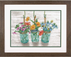 Flowering Jars Cross Stitch Kit