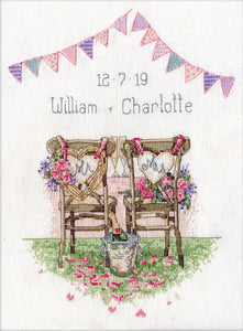 Wedding Chairs Cross Stitch Kit
