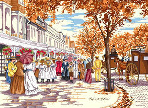 Autumn on Lord Street Cross Stitch Kit