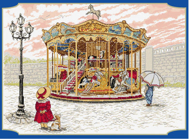 Snowy Carousel Cross Stitch Kit