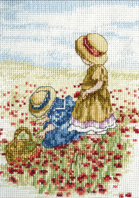 Poppy Fields Cross Stitch Kit