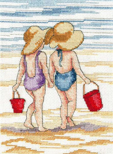 Red Buckets Cross Stitch Kit