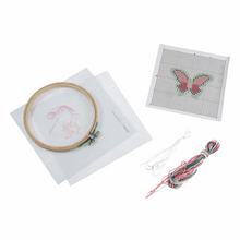 Load image into Gallery viewer, Butterfly Beginners Cross Stitch Kit