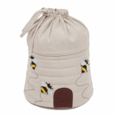 Drawstring Yarn Holder ~ Bee ~ Appliqué