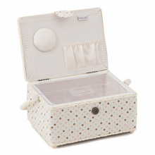 Load image into Gallery viewer, Appliqué Owl Medium Sewing Box
