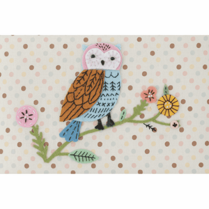 Appliqué Owl Medium Sewing Box
