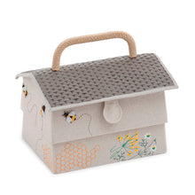 Load image into Gallery viewer, Sewing Box / Basket and Pin Cushion - Beehive / Bee