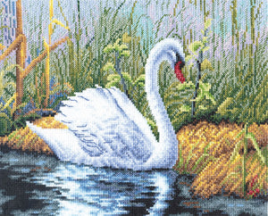 White Swan Cross Stitch Kit