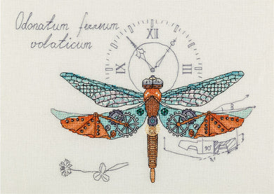 Steampunk Dragonfly Cross Stitch Kit