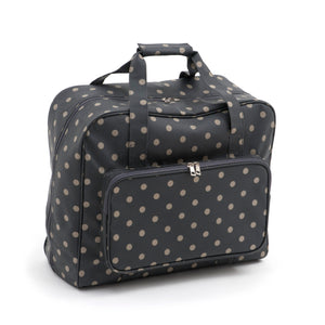 Sewing Machine Bag ~ Charcoal Polka Dot