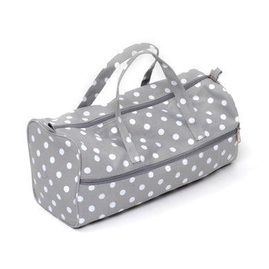 Knitting Bag (Fabric Handles) - Grey Spot