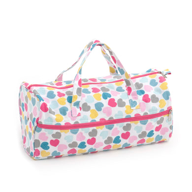 Knitting Bag (Fabric Handles) - Love Hearts
