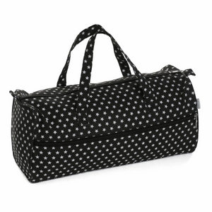 Knitting Bag (Fabric Handles) - Black Star