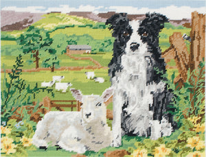 Border Collie and Lamb Tapestry Kit