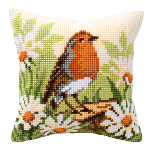 Robin Cross Stitch Cushion Front Kit
