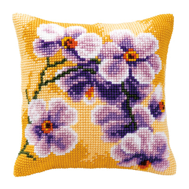 Orchid Cross Stitch Cushion Front Kit